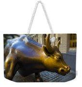 Wall Street Bull Market Weekender Tote Bag