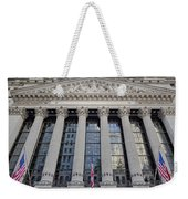 Wall Street New York Stock Exchange Nyse  Weekender Tote Bag