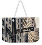 Wall Street Sign Weekender Tote Bag