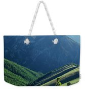 1m5903-wallowa Mountains And Valley Of The East Fork Weekender Tote Bag