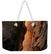 Wallstreet - The Narrows In Zion National Park. Weekender Tote Bag