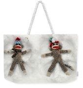 Wally And Petey Snow Angels Weekender Tote Bag