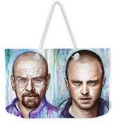 Walter And Jesse - Breaking Bad Weekender Tote Bag by Olga Shvartsur