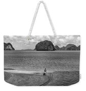 Wandering In Paradise Monochrome Weekender Tote Bag