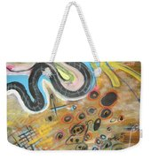 Wandering In Thought2 Original Abstract Colorful Landscape Painting For Sale Yellow Blue Green Weekender Tote Bag