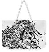 War Horse - Zentangle Weekender Tote Bag