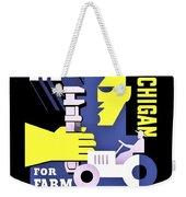 War Poster - Ww2 - Mobilizing Michigan Weekender Tote Bag
