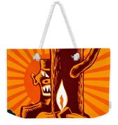 War Poster - Ww2 - Fire Safety Weekender Tote Bag