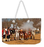 War - Revolutionary War - The Musket Drill Weekender Tote Bag by Mike Savad