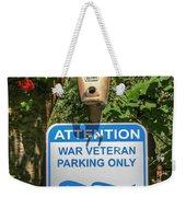 Veteran Parking Sign Weekender Tote Bag