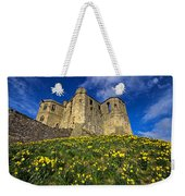 Warkworth Castle In Spring Weekender Tote Bag