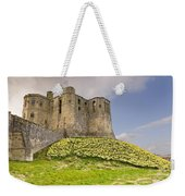 Warkworth Castle With  Daffodils Weekender Tote Bag