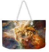 Warm Carina Nebula Pillar 3 Weekender Tote Bag by Jennifer Rondinelli Reilly - Fine Art Photography