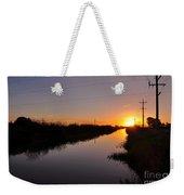 Warm Rural Sunset Weekender Tote Bag