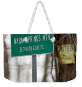 Warm Springs Mountain  Weekender Tote Bag