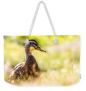 Warm Summer Morning And A Duck Weekender Tote Bag