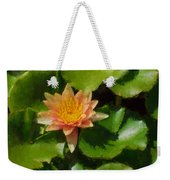 Warm Yellows Oranges And Corals - A Waterlily Impression Weekender Tote Bag
