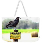 Warning Weekender Tote Bag