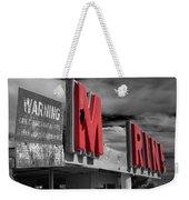 Warning M Rine Black And White Weekender Tote Bag