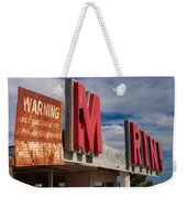 Warning M Rine Weekender Tote Bag