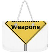 Warning Sign Chemical Weapons Weekender Tote Bag