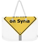 Warning Sign Strike On Syria Weekender Tote Bag