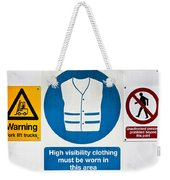 Warning Signs Weekender Tote Bag