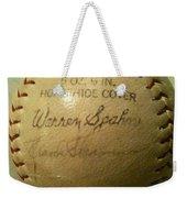 Warren Spahn Baseball Autograph Weekender Tote Bag