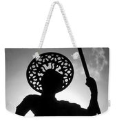 Warrior White Text Weekender Tote Bag