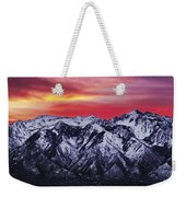 Wasatch Sunrise 3x1 Weekender Tote Bag by Chad Dutson