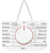 Washing Machine Controls With Symbols Weekender Tote Bag