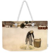 Washing On The Ice Weekender Tote Bag