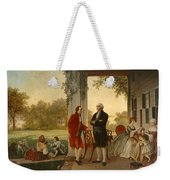 Washington And Lafayette At Mount Vernon Weekender Tote Bag