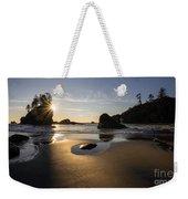 Washington Beach Sunstar Dusk Weekender Tote Bag