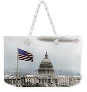 Washington Capitol And Blimp Weekender Tote Bag