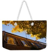 Washington D C Facades - Reflecting On Autumn In Georgetown  Weekender Tote Bag