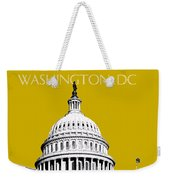 Washington Dc Skyline The Capital Building - Gold Weekender Tote Bag