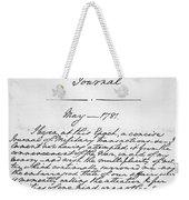 Washington: Journal, 1781 Weekender Tote Bag