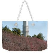 Washington Monument Reflected In Tidal Basin And Surrounded By P Weekender Tote Bag