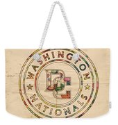 Washington Nationals Poster Vintage Weekender Tote Bag