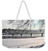 Washingtons Crossing Winter Weekender Tote Bag