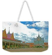 Wat Tha Sung Temple In Uthaithani-thailand Weekender Tote Bag