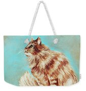 Watch Cat Weekender Tote Bag
