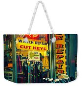 Watch Repair Shop - Keys Made Here Weekender Tote Bag