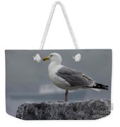 Watchful Seagull Weekender Tote Bag