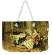 Watching The Baby  Weekender Tote Bag by Edouard Toudouze