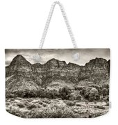 Watchman Trail In Sepia - Zion Weekender Tote Bag