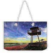 Watchtower On The Beach Weekender Tote Bag