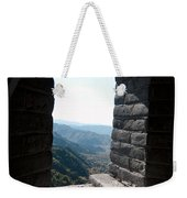 Watchtower Window View From The Great Wall 637 Weekender Tote Bag