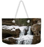 Water And Ice Flow Weekender Tote Bag